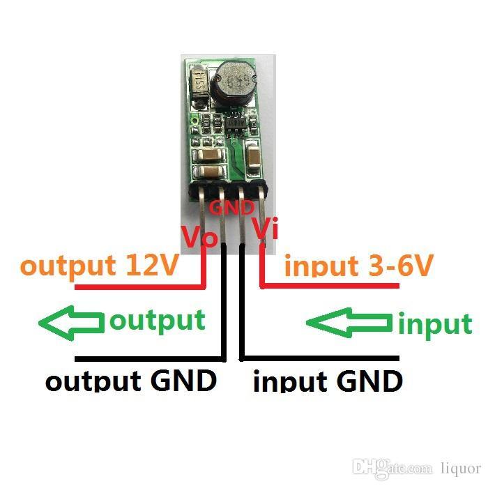 CE014_12V * 5 DC-DC módulo conversor 5x Breadboard Power Supply 5V a 12V step-up impulso para LED Relé diy