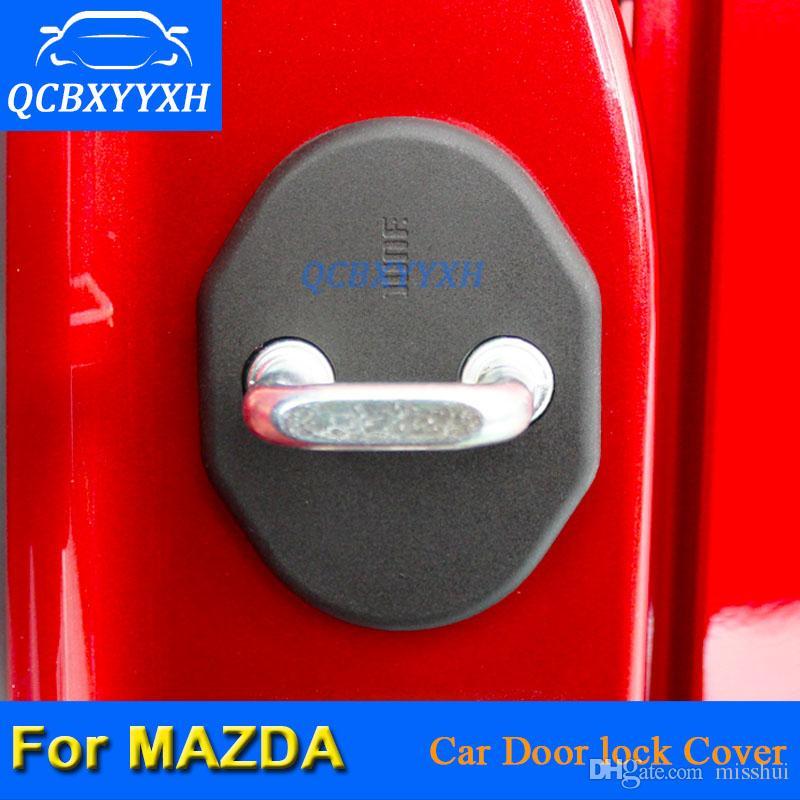 HDWY 4Pcs Acciaio Inossidabile Coperchio della Serratura della Porta per Mazda CX-5 Auto Ruggine Custodia Protettiva Accessori Decorativi Styling