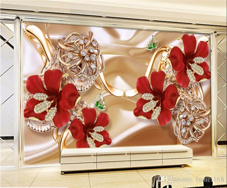 Custom Photo Wallpaper 5d 8d Stereo Surfaces Mural 3d Rich Jewelry Jewelry Flowers Tv Backdrop Wall Papel De Parede Hq Hd Wallpaper Hq Hd Wallpapers From Fumei168 16 73 Dhgate Com