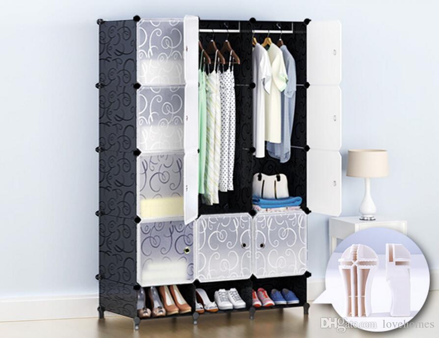 2019 Furniture Wardrobe Bedroom Nonwoven Wardrobes Cloth Storage Saving  Space Locker Closet Sundries Dustproof Storage Cabinet 10 Styles LH06 From  ...