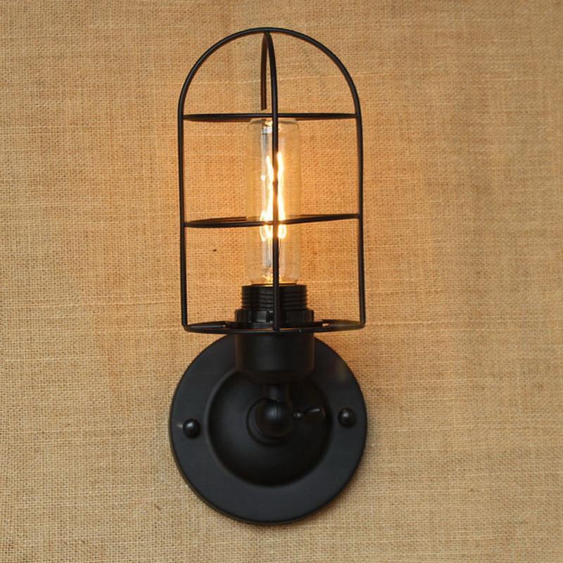 Промышленный португальский стиль мини Винтаж Лофт Регулируемый античный черный Металл Настенный Светильник Бра Бра Светильники для мастерской