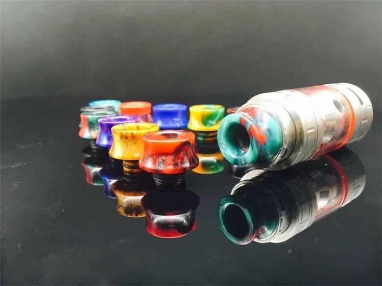SMOK TFV8 Baby Drip Tip punte a goccia in resina epossidica per SMOK TFV8 Baby Pretty pattern punte a goccia 510 bocchino DHL Free Ship