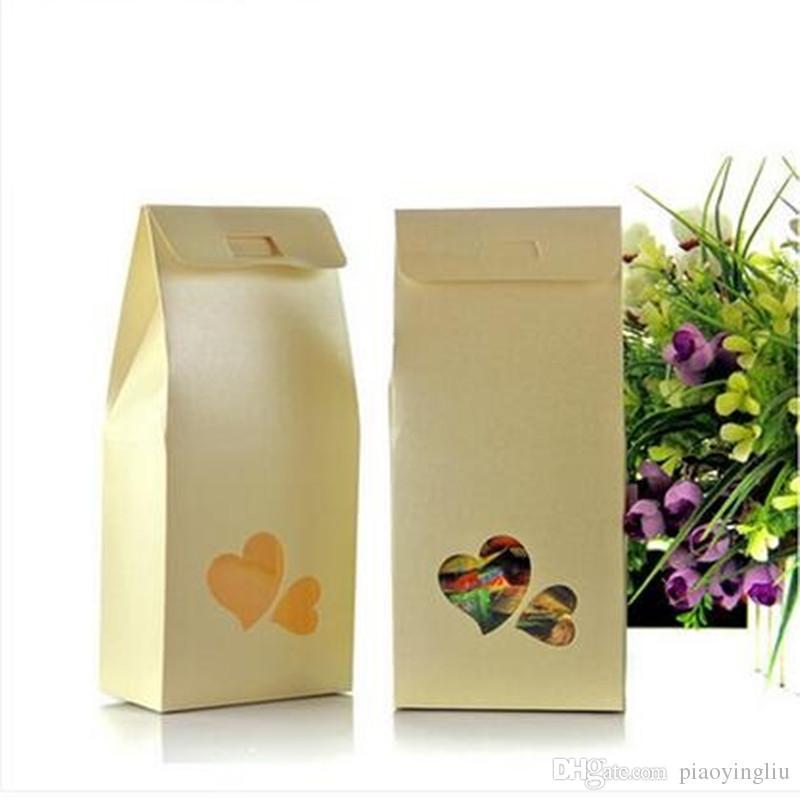11cm * 23cm * 5cm 편평한 포장 상자 크래프트 종이 포장 DIY 음식 포장 상자 선물 상자 사탕 초콜렛 포장 100pcs / lot