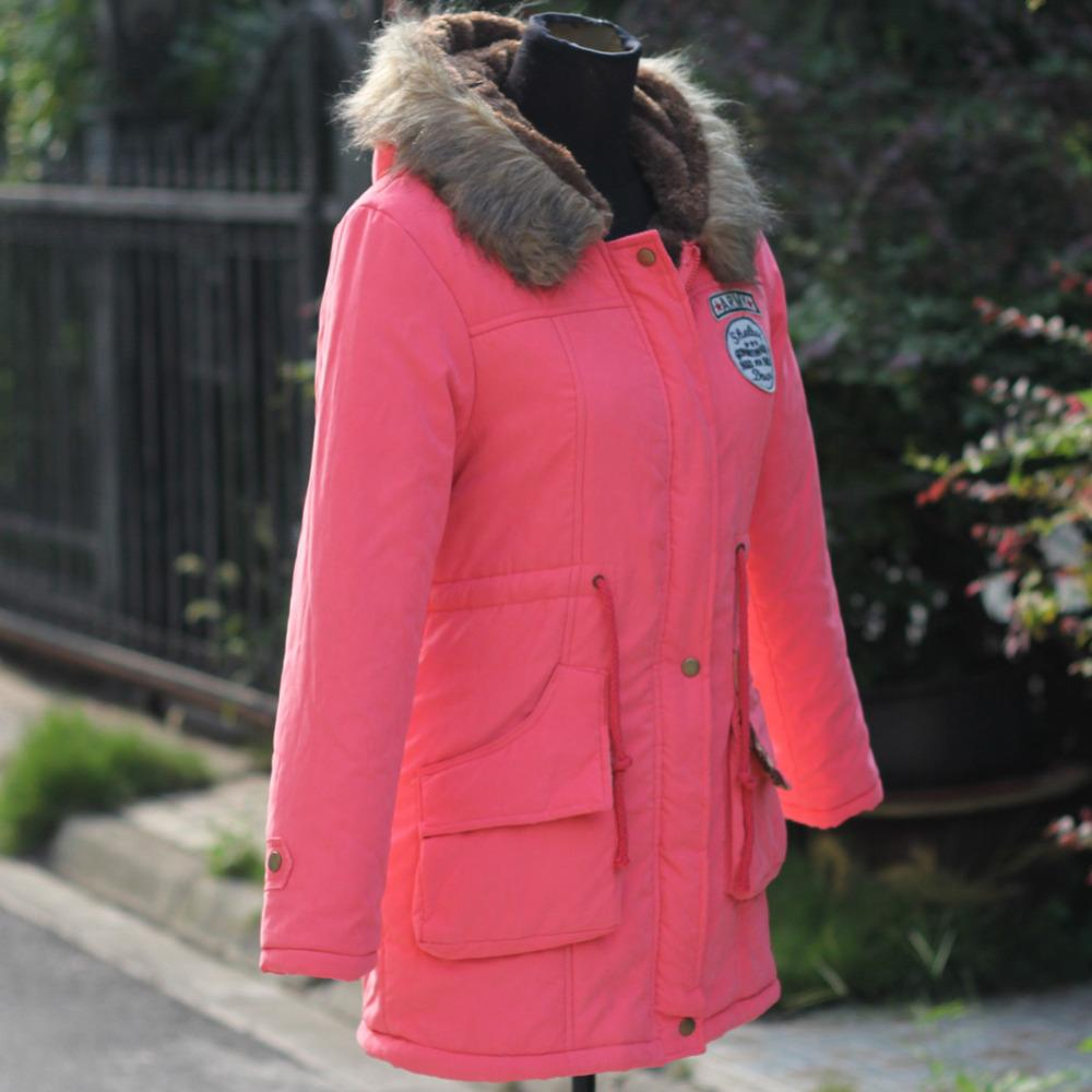 Wholesale-Thickening Parkas Winter Jacket Women Coats Female Outerwear Plus Size Casual Long Down Cotton Wadded Lady Woman Fashion Warm