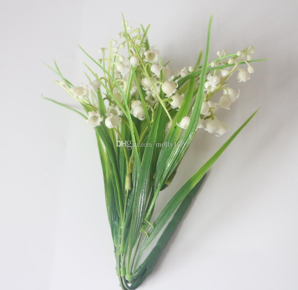 2018 artificial lily of the valley spray fake belletrists bride artificial lily of the valley spray fake belletrists bride holding flowers for wedding flower bouquets izmirmasajfo