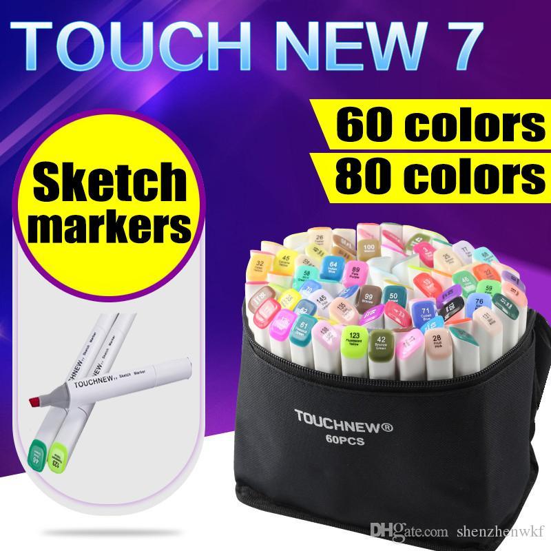 60 Artista Doppia Headed Marker Set Mark penna manga animazione della vernice di disegno di abbozzo Copic Markers per il disegno