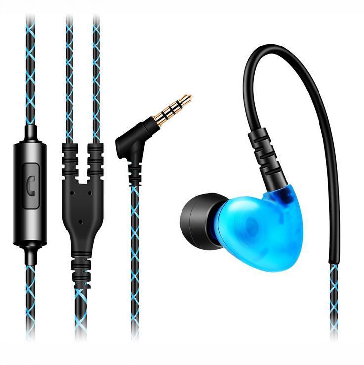 Sport Cuffie Bass Ear Hook Cuffie Sport auricolari in-ear in esecuzione con microfono per lettore MP3 per Xiaomi Iphone