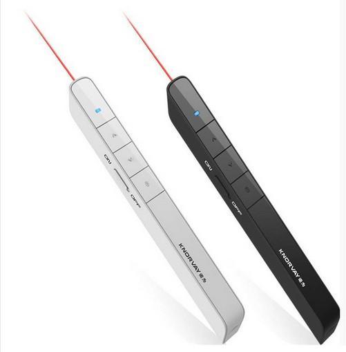 Nouvelle Arrivée Knorvay USB Sans Fil PPT Télécommande Pointeur Laser Présentateur PC powerpoint PPT Presenter page tournant Stylo