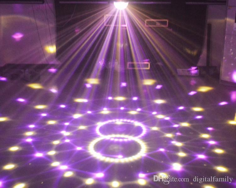 6 Channel DMX512 Control Digital LED RGB Crystal Magic Ball Effect Light DMX Disco DJ Stage Lighting Free Shipping wholesale