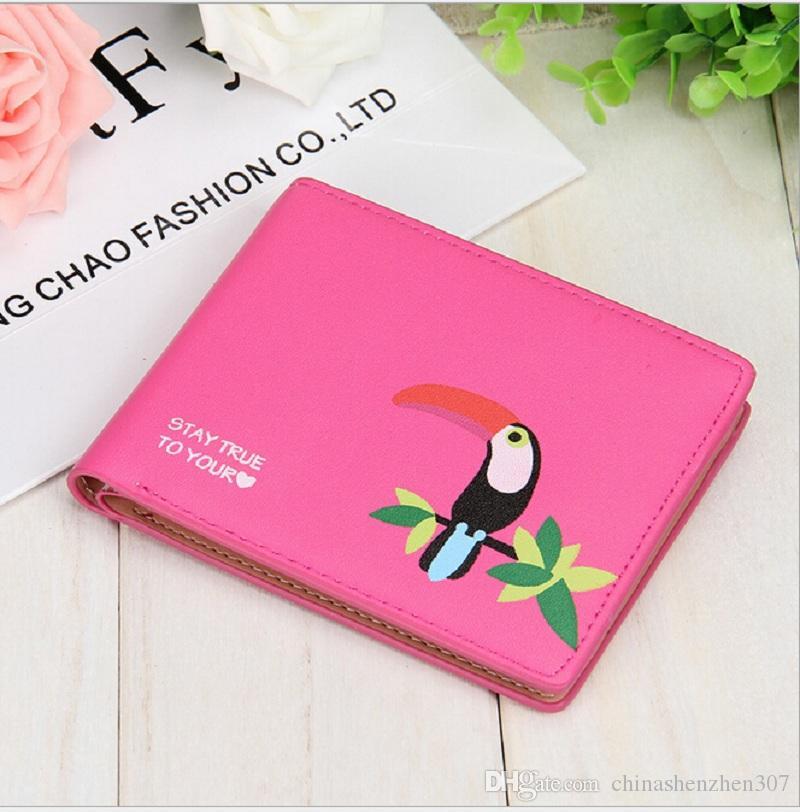 2016 جديد الطوقان الطباعة المرأة محفظة العلامة التجارية قصيرة محفظة الملونة الكورية محفظة أعلى بطاقة محفظة شحن مجاني