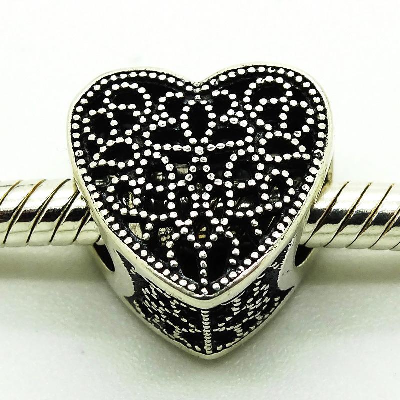 Wärme 2016 Gefüllt mit Romantik-Herzen 100% 925 Sterlingsilber-Korn-pass Pandora Armband Modeschmuck DIY-Charme-Marke