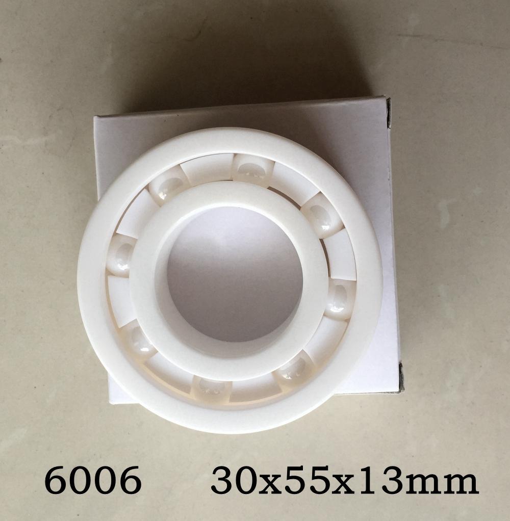5 pcs 6006 completa cerâmica rolamento 30x55x13mm zircônia ZrO2 rolamentos de esferas de cerâmica 30 * 55 * 13mm