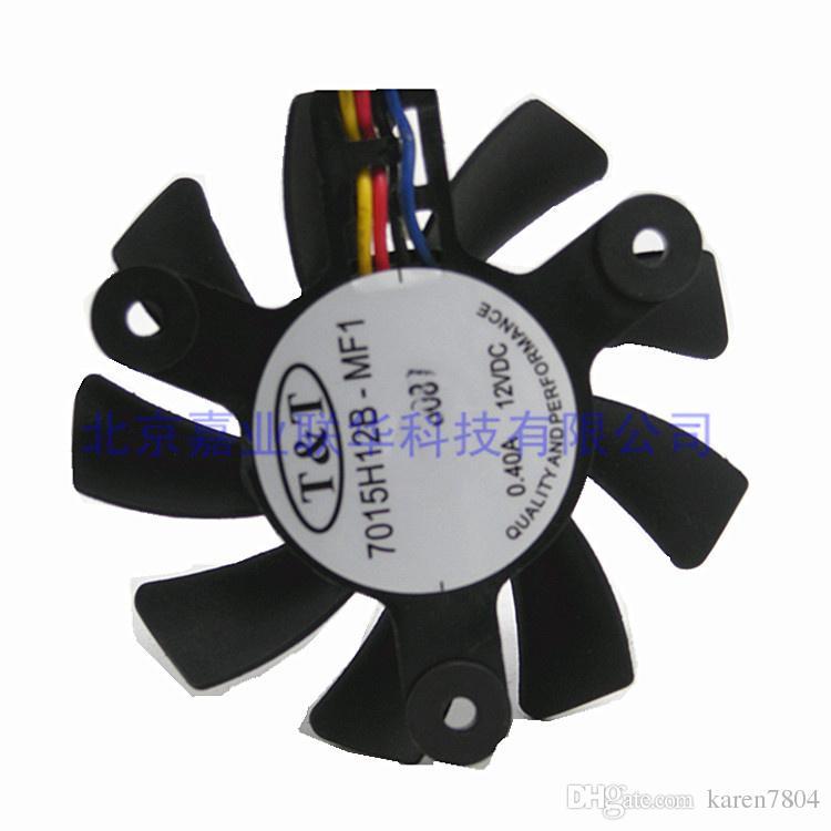 Original TT 7015H12B-MF1 12 V 0.40A passo 4.7 CM de diâmetro 6.5 CM 4Lines placa gráfica ventilador de refrigeração
