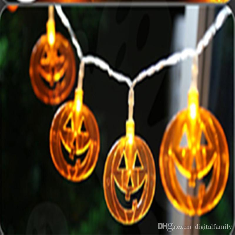 Halloween Christmas Decorations Pumpkin Lights Ghosts Spiders Skeletons  Bats LED String Lights 10LED 20LED String Lights Led Micro String Lights  From