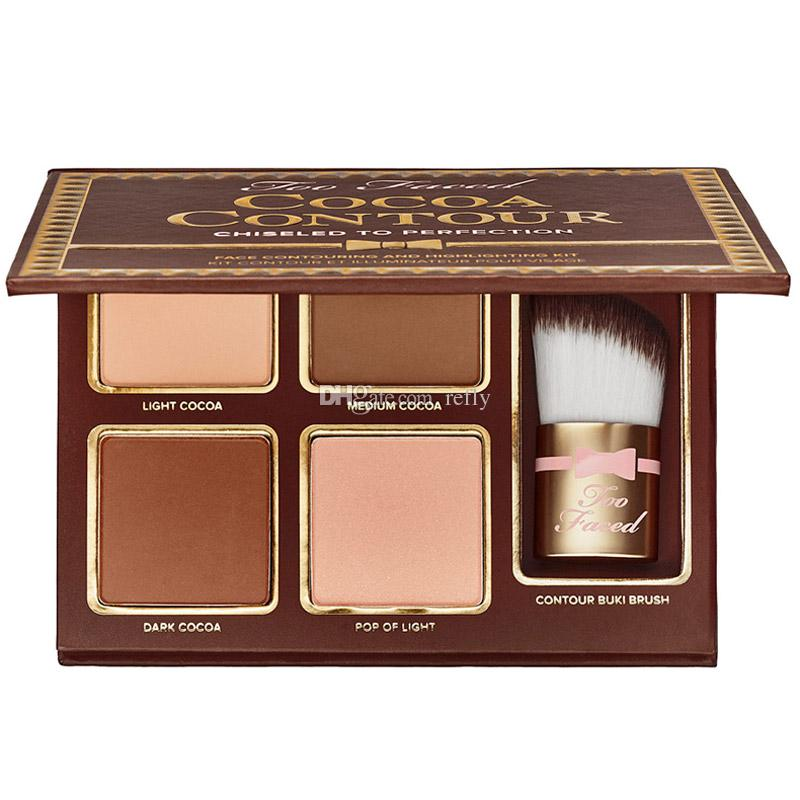 Makeup Cocoa Contour Chiseled To Perfection Highlighters Face Contouring And Highlighting Kit 4 Color Free DHL Shipping