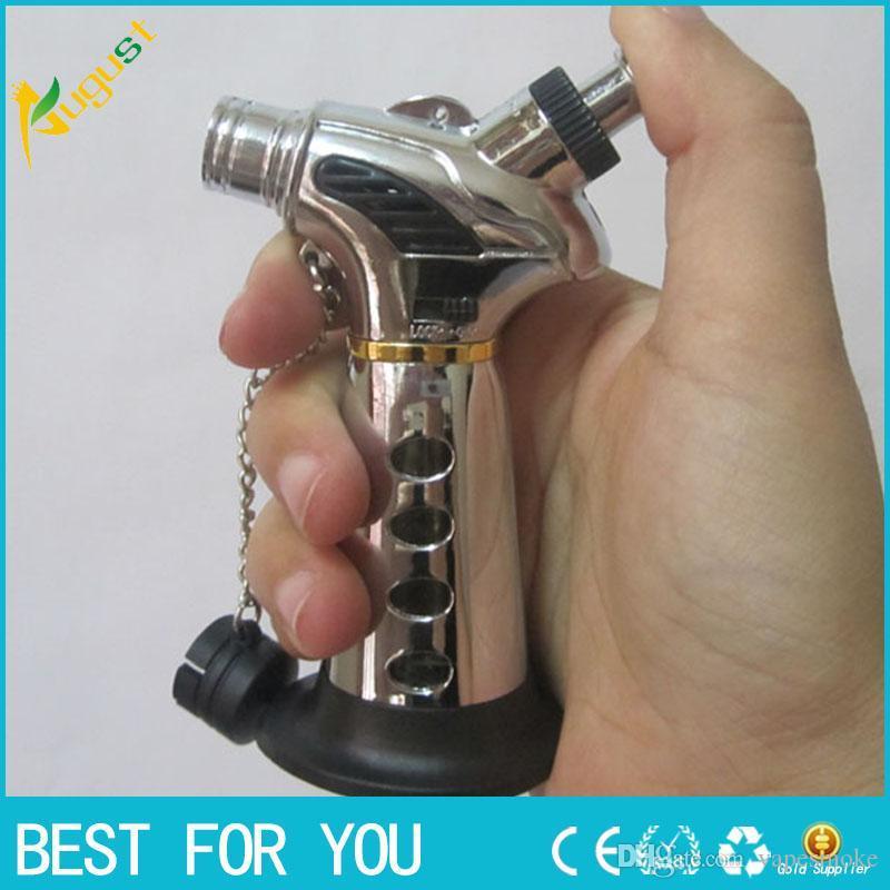 New hot Flame Cigarette Cigar Gas Lighter Click N Vape sneak A vape sneak a toke smoking metal pipe Vaporizer jet torch lighter