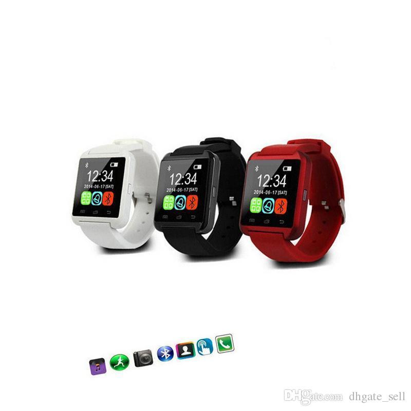 Assista 2020 Silicone Android CE Assista WristWatch U8 Cheap Strap Rohs Speaker Support Telefone Smart U8 Bluetooth HKPDH