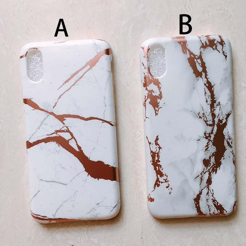 Protection Ecran Telephone Portable Pour Iphone X Case Luxe Rose Or Chrome Marbre Housse Pour Iphonex 10 Mattes Marbres Tpu Couverture Retour