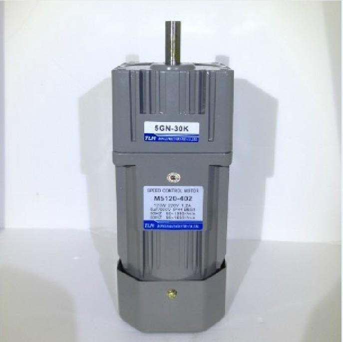 New Gear Motor /gearbox motor 5IK60GN-C in 220 VAC out Power 60W reduction ratio 1:30 have18 kinds Vertical AC motor with a fan
