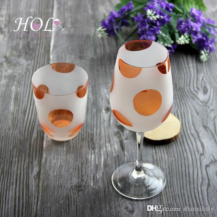 Vidro fosco copo de vinho vermelho lindo copo de vinho