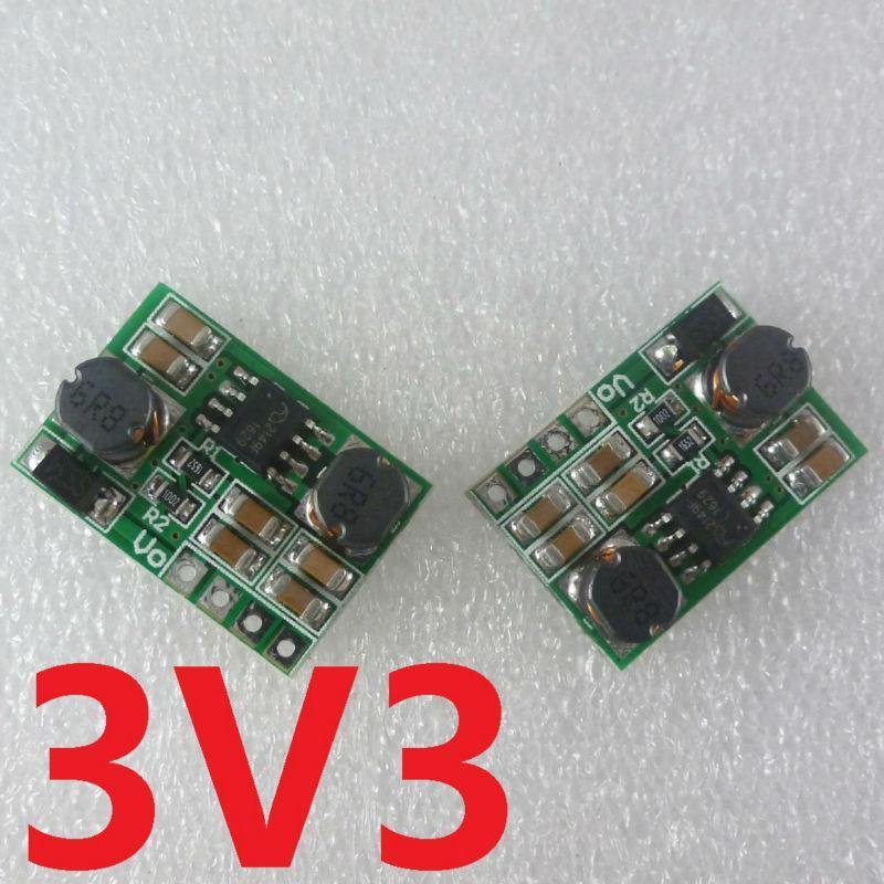 2PCS Auto Buck-подталкивания модуль 0.9-6V регулятор постоянного тока DC преобразователь напряжения на 3,3В для 18650 Солнечное зарядное устройство литий лев батареи