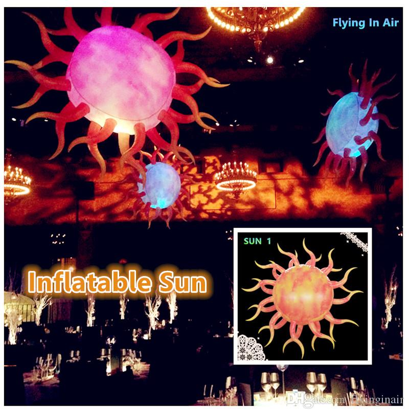 2m Decorative LED Inflatable Sun for Party, Club and Event Decor