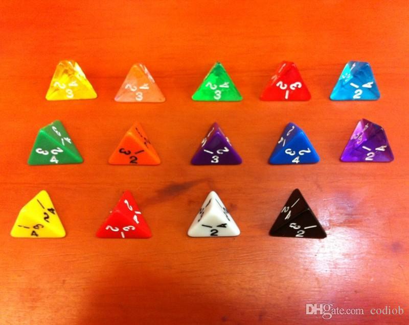 D4 Transparent Dés Multi Cristal Coloré Polyédrique Dés 4 Face Effacer Dés Enfants Jeux Partie Boisson Jeu Boson Drôle Jeux De Famille # P28