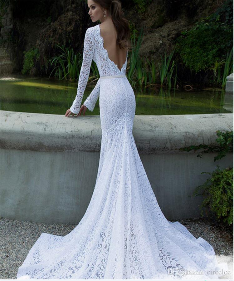 2017 Sexy Backless Wedding Dresses