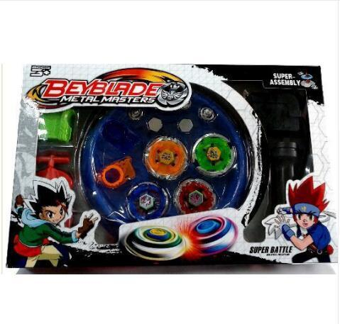 Free Shipping 4pcs /Set Beyblade Arena Spinning Top Metal Fight Beyblad Beyblade Metal Fusion Children Gifts Classic Toys 2017