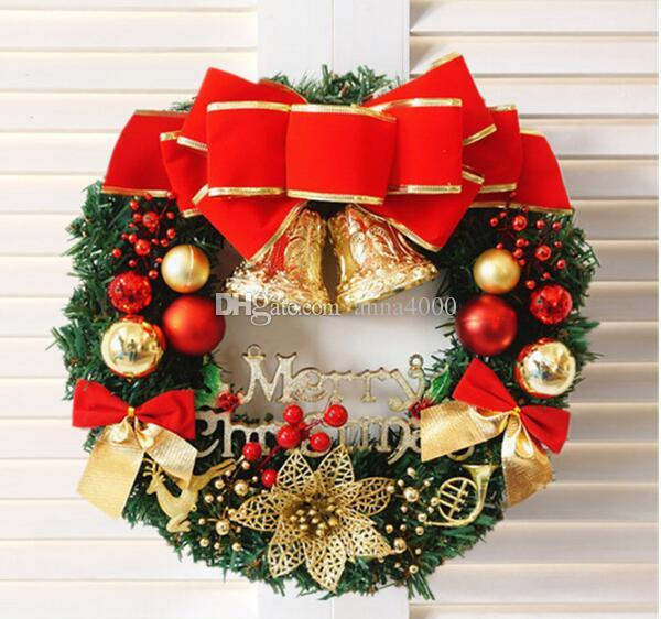 Christmas Wreaths.2019 Christmas Wreaths 30cm Christmas Decorations Christmas Doors Garlands Window Props From Anna4000 Price Dhgate Com