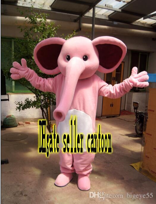 hohe Qualität Real Pictures Deluxe Pink elephantl Maskottchen Kostüm Anime Kostüme Werbung Maskottchen Erwachsene Größe direkt ab Werk versandkostenfrei