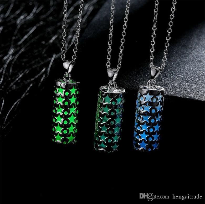 10 шт. / лот бесплатная доставка Оптовая 925 стерлингового серебра покрытием мода женщин флуоресцентные подвески ожерелье GN035