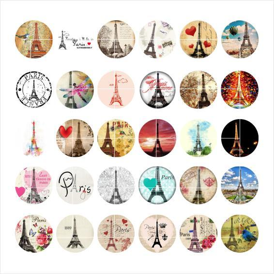 Free shipping Eiffel Tower snap button jewelry charm popper for bracelet 30pcs / lot GL030 jewelry making