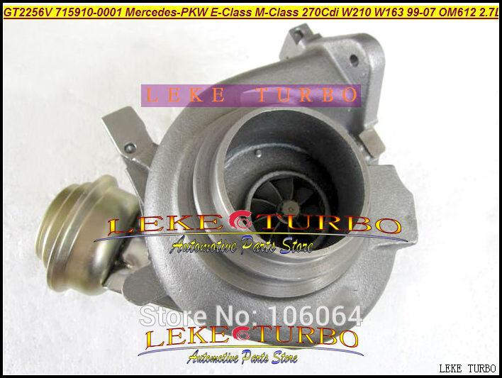 GT2256V 715910-5002S 715910 Turbo Turbocharger For Mercedes-PKW E-Class 270 CDI W210 M-Class W163 1999-07 OM612 2.7L 170HP (6)