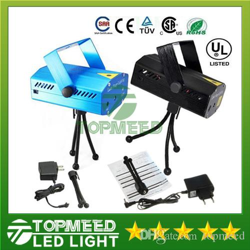 Portable Laser Stage Lights (Red + Green Color) Multi All Sky Star Lighting Mini DJ Laser For Christmas Party Home Wedding Club Projector