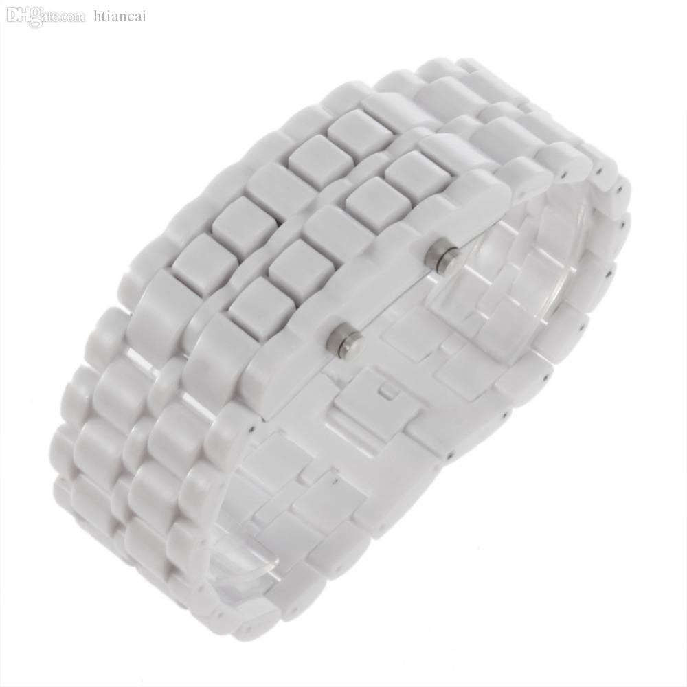 Al por mayor-Moda Hombres Mujeres Lava Iron Samurai Plastic LED Pulsera Reloj Reloj Deportes Estilo