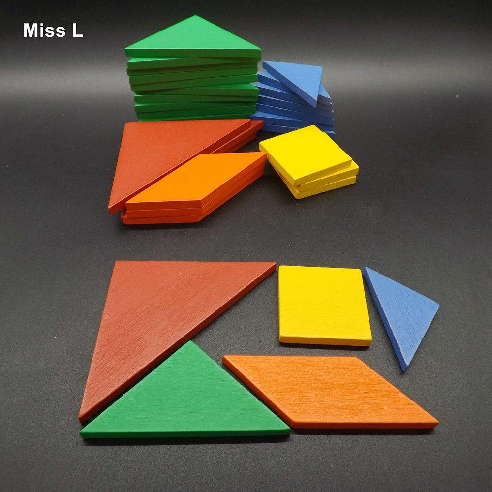 32 pcs Coloré Tangram Puzzle Tetris Jeu Enfants Enfant Cadeau Puzzle En Bois Jouet Début Éducation Développement Bébé Jouet