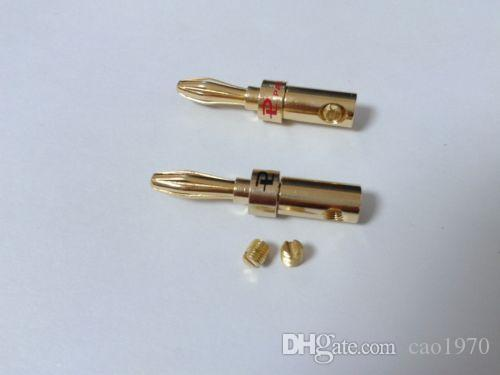 20pcs Gold plated brass Speaker 4mm Banana Plug Audio Jack Cable Connector