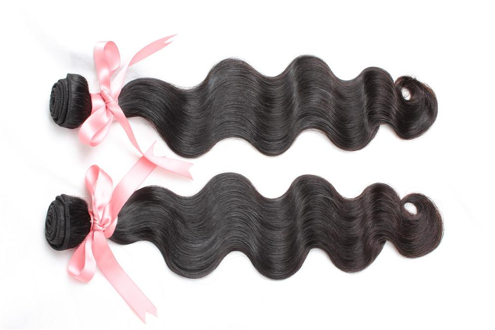 """8""""~30"""" Malaysian virgin Human Hair Weave 2PCS Malaysian Body Wave Extensions Natura Black Color Dyeable Remi Hair Greatremy Drop Shipping"""