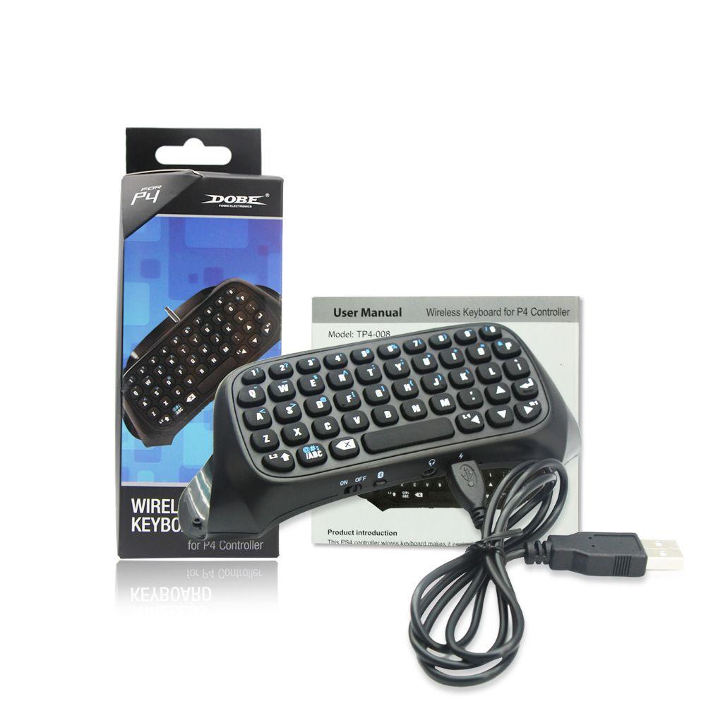 도브 3.5mm 블루투스 미니 무선 Chatpad 메시지 QWERTY 키보드 PS4 PS 4 P4 플레이 스테이션 컨트롤러 전체 키
