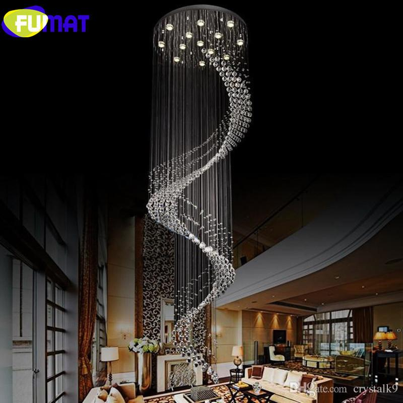 online retailer a9033 3339b 2019 4 4.5M Long K9 Crystal Spiral Chandeliers Modern Luxury Chandelier  Lighting Fixture Cord Hanging Lamps Clear Crystal Chandelier From  Crystalk9, ...