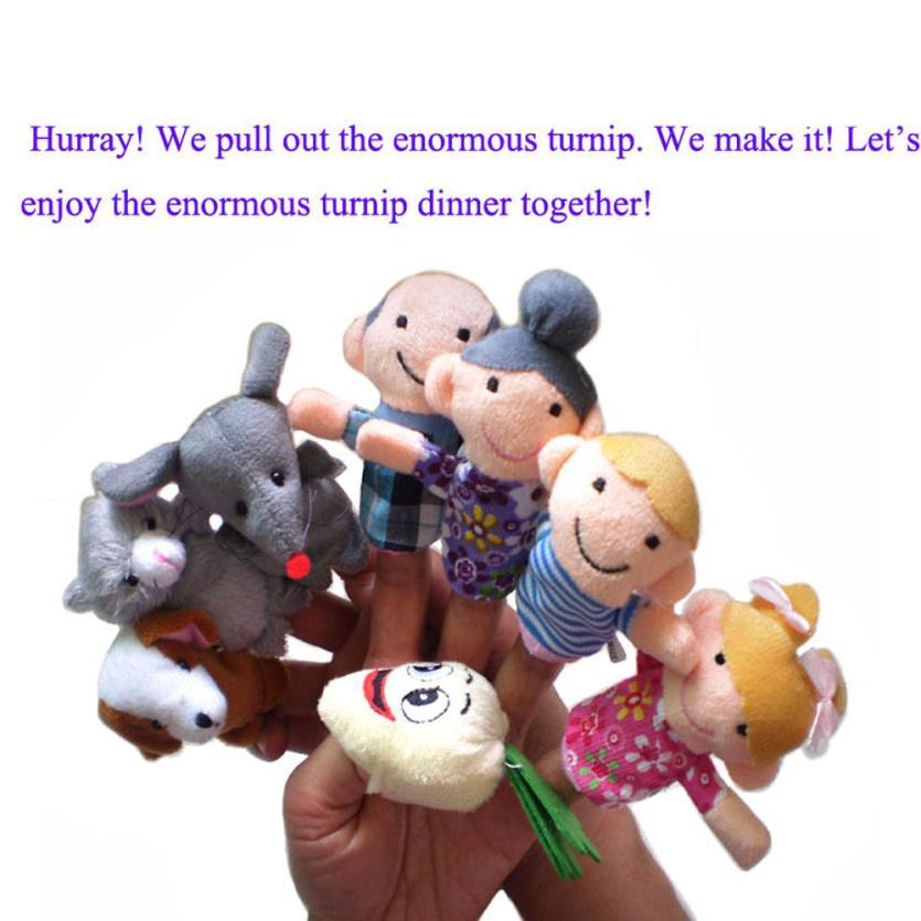 8pc Finger Puppets baby toy Cartoon Animal family Puppet Toys para niños kidsfinger puppet baby girls boys regalo