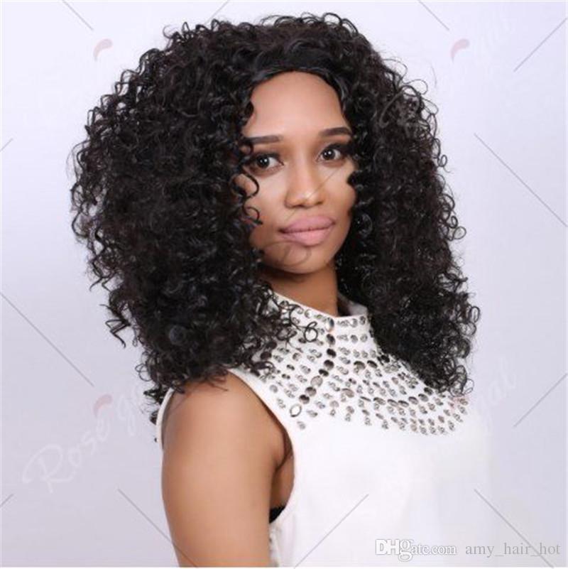 Partie libre avant de lacet de cheveux humains perruques femmes noires 100% cheveux bouclés brésiliens perruques pleine dentelle perruques de cheveux humains avec des cheveux de bébé