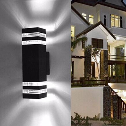 50pcs / lot trasporto libero LED 10W Due teste Illuminazione esterna Lampada da parete Outdoor luci portico LED Luce di alluminio impermeabile IP63 parete lampada a LED