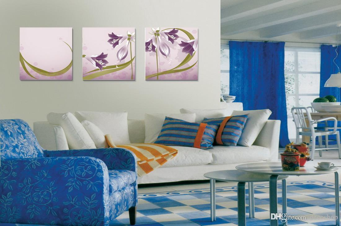 Modern Beautiful Flowers Fine Floral Painting Giclee Print On Canvas Home Decor Wall Art Set30216