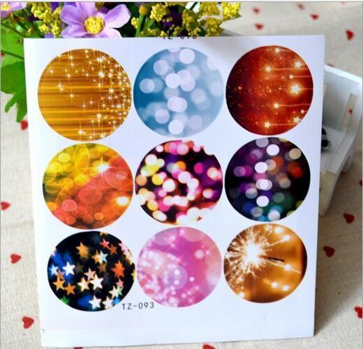 500sheets (4500pcs) 다채로운 거품 디자인 라운드 물개 스티커 장식 DIY 선물 스티커 쿠키 씰링 레이블