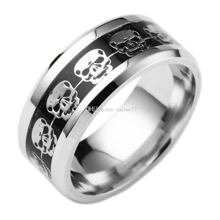 jewelry rings engagement hand ring hyr gothic stainless mens skeleton bling swk steel biker skull