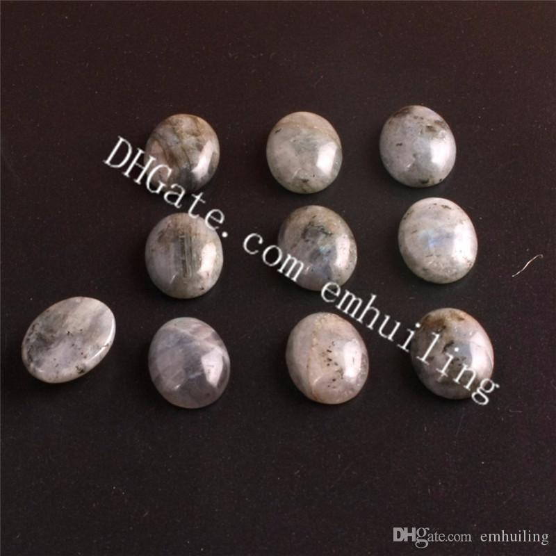 Smooth Oval Flatback Natural Labradorite Cabochon Gemstones Fine Quality Loose Spectrolite Semi Precious Stones Healing Gems Beads Wholesale