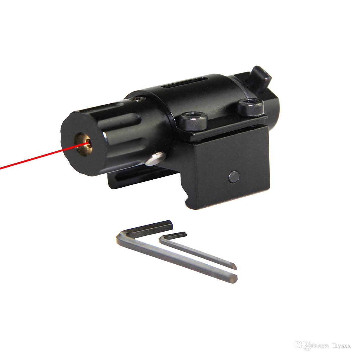 Taktik Av Süper Mini Kırmızı Nokta Lazer Sight Tabanca Tabanca ile 20mm Raylı