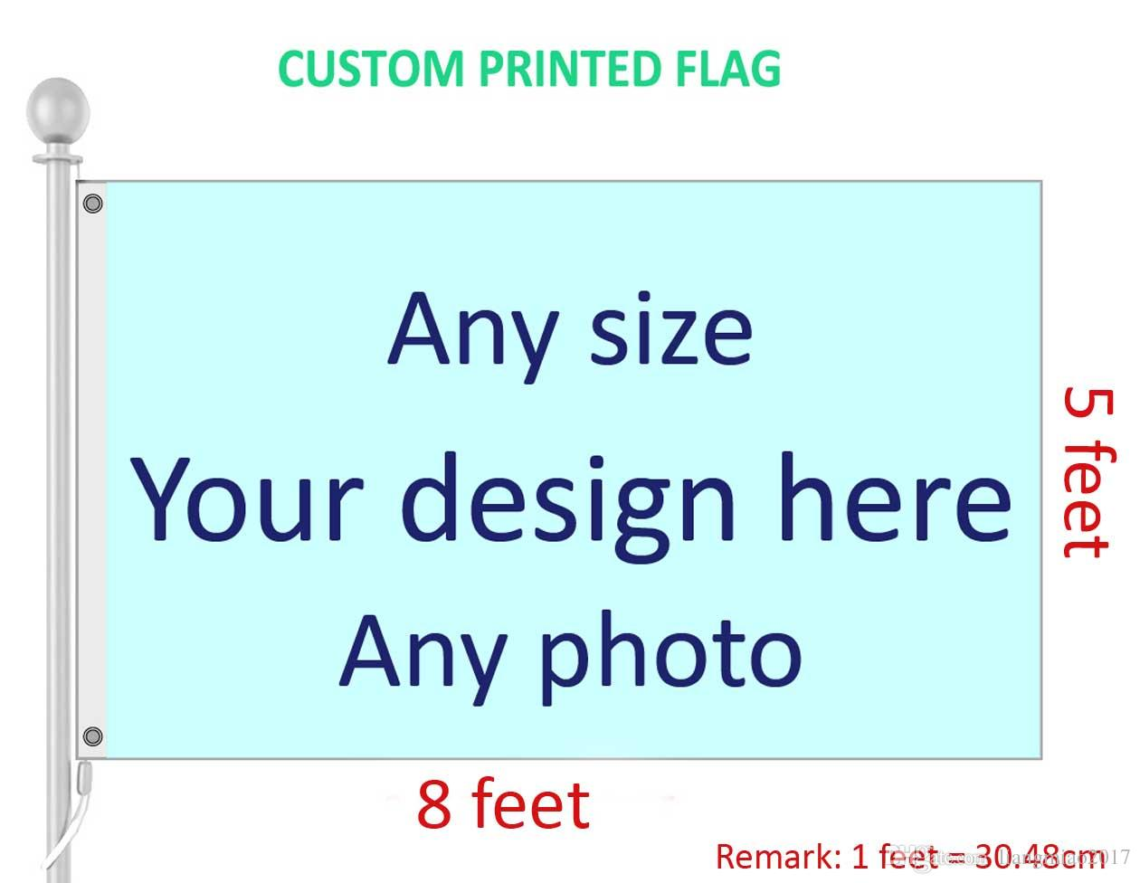 5x8 feet Custom print Flag Banner Any Size, Pls provide your Design
